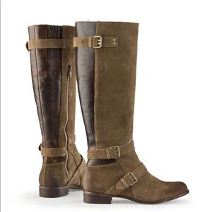 UGG Cydnee Brown Suede Leather Riding Boots Size 5